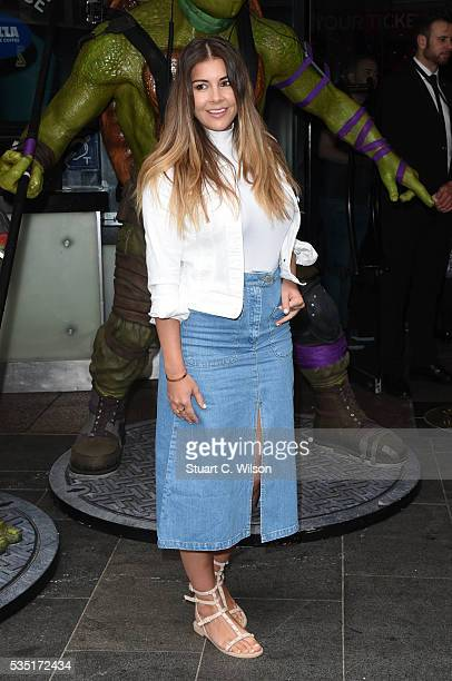 Imgoen Thomas arrives for the gala screening of 'Teenage Mutant Ninja Turtles Out Of The Shadows' at Vue West End on May 29 2016 in London England