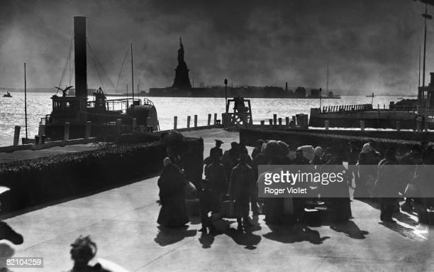 Imimgrants on Ellis Island New York about 1900