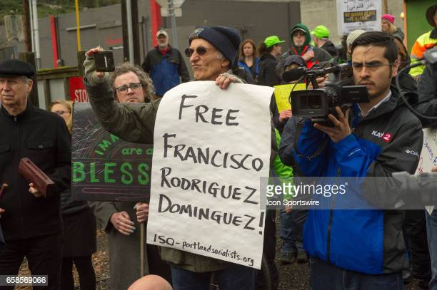 'Immediate response to ICE' rally coorganized by Milenioorg and Voz HIspana Cambio Comunitario in response to the arrest of Francisco Rodriguez on...