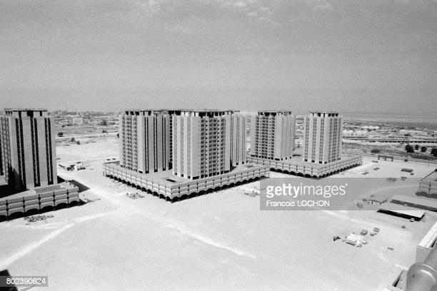 Immeubles récents dans un quartier neuf de Dammam en mars 1980 en Arabie Saoudite