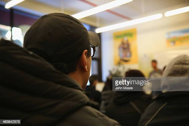 Immigrants attend a workshop for Deferred Action for Childhood Arrivals on February 18 2015 in New York City The immigrant advocacy group Make the...