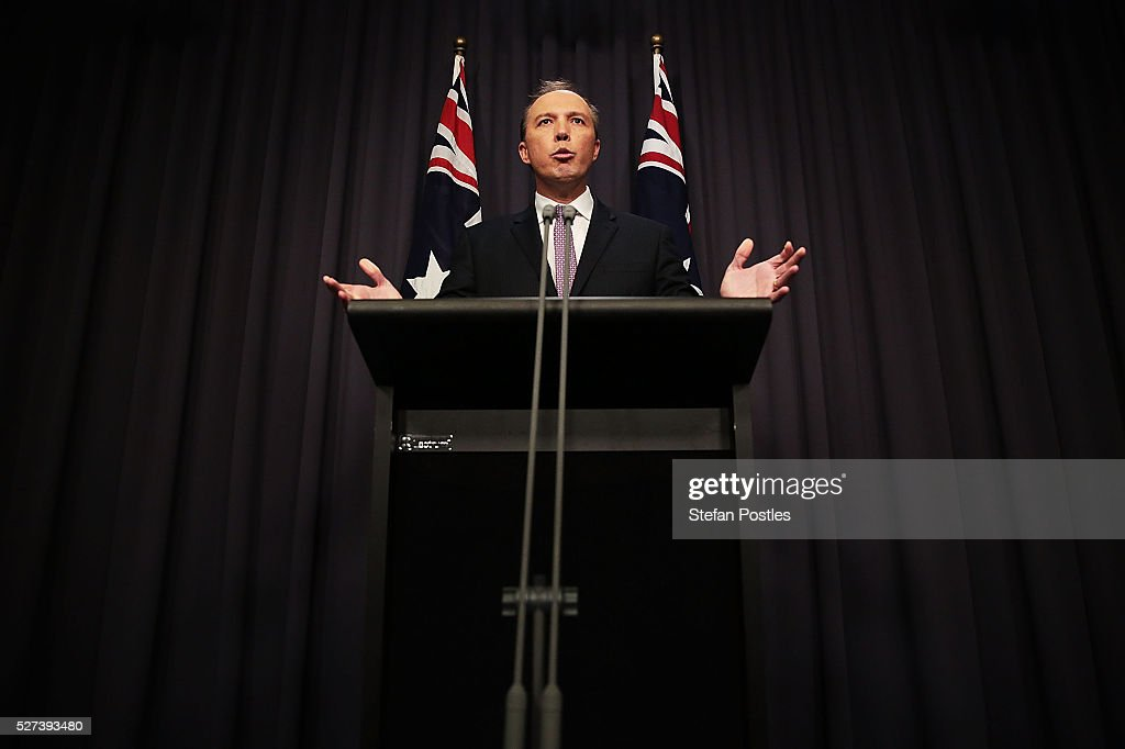 Immigration Minister Peter Dutton speaks to the media at Parliament House on May 3, 2016 in Canberra, Australia. Hodan Yasin, a 21-year-old Somali refugee has arrived for treatment in Brisbane after setting herself on fire while being detained in Nauru. It is the second attempt on Nauru in a week, after Iranian refugee Omid Masoumali set himself on fire last Wednesday. He later died from his injuries.