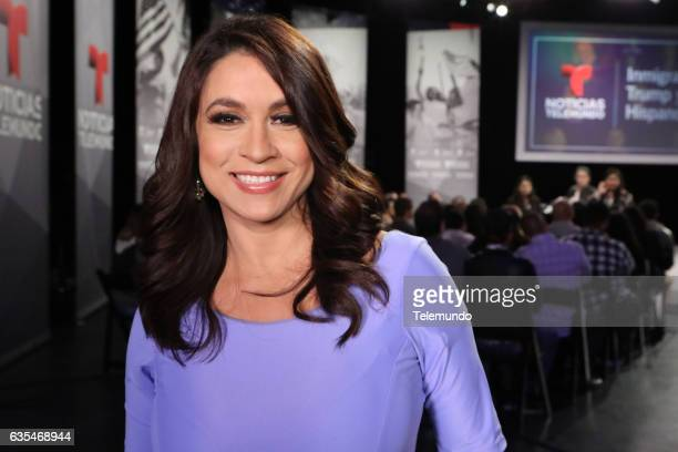 TELEMUNDO 'Immigration Town Hall' Pictured Dunia Elvir Telemundo KVEA Anchor at Universal Studios Hollywood February 12 2017
