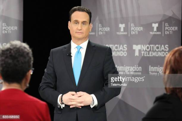 TELEMUNDO 'Immigration Town Hall' Pictured José DíazBalart Moderator at Universal Studios Hollywood February 12 2017