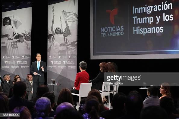 TELEMUNDO 'Immigration Town Hall' Pictured José DíazBalart Moderator at Universal Studios Hollywood February 12 2017