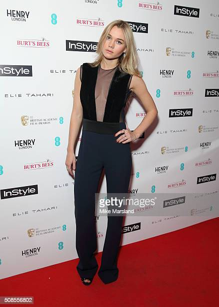 Immy Waterhouse attends the InStyle EE Rising Star PreBAFTA Party at 100 Wardour Street on February 4 2016 in London England
