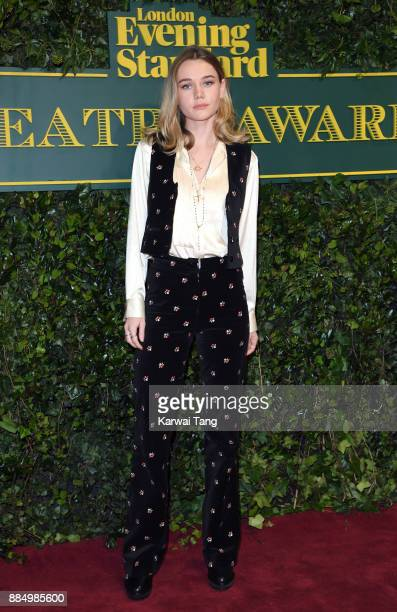 Immy Waterhouse attends the London Evening Standard Theatre Awards at Theatre Royal on December 3 2017 in London England