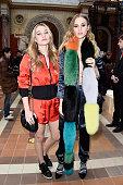 Imogen and Suki Waterhouse attend the Sonia Rykiel show as part of the Paris Fashion Week Womenswear Fall/Winter 2016/2017 on March 7 2016 in Paris...