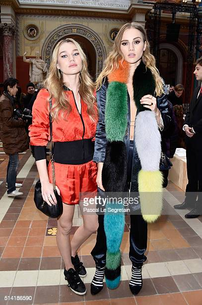 Imogen and Suki Waterhouse attend the Sonia Rykiel show as part of the Paris Fashion Week Womenswear Fall/Winter 2016/2017 on March 7 2016 in Paris...