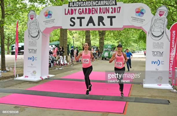 Imogen Leaver and Charlotte Holmes attend the Lady Garden 5K 10K Run in aid of Silent No More Gynaecological Cancer Fund in Hyde Park on May 13 2017...
