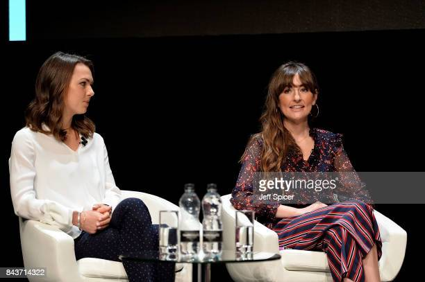 Imogen Pierce and Michelle Kennedy speak at the Woman and Machine Talk during Technology with Heart Jaguar Land Rover's Tech Fest at Central St...