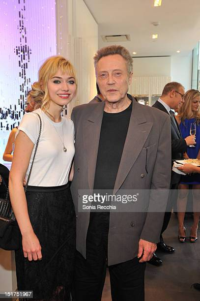 Imogen Poots and Christopher Walken attend 'A Late Quartet' PreScreening Event 2012 Toronto International Film Festival on September 10 2012 in...