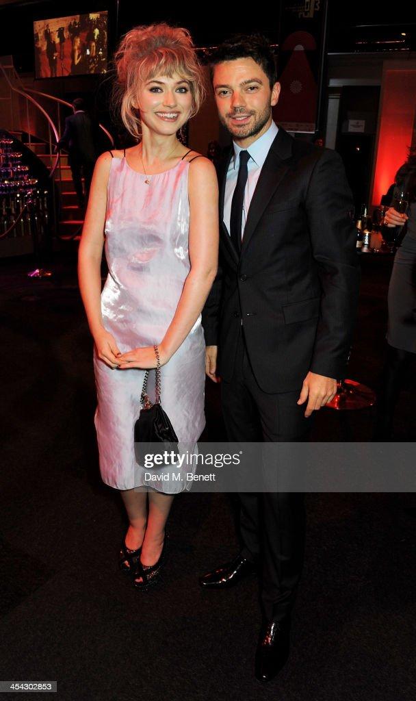 Imogen Poots and Dominic Cooper attend the Moet Reception at the Moet British Independent Film Awards 2013 at Old Billingsgate Market on December 8...