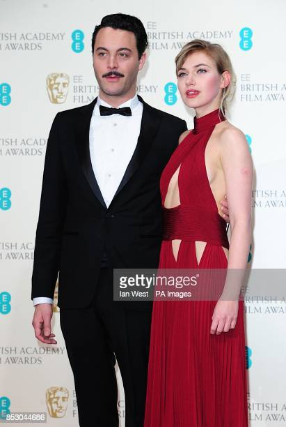 Imogen Poots and Jack Huston at The EE British Academy Film Awards 2014 at the Royal Opera House Bow Street London