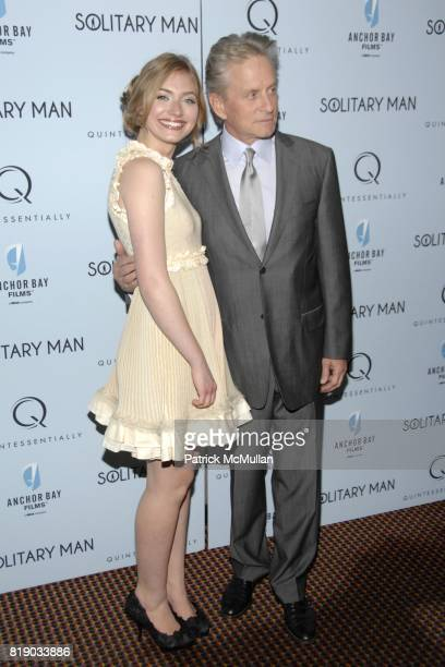 Imogen Poots and Michael Douglas attend QUINTESSENTIALLY and ANCHOR BAY FILMS Host The NY Premiere of SOLITARY MAN at Cinema 2 on May 11 2010 in New...