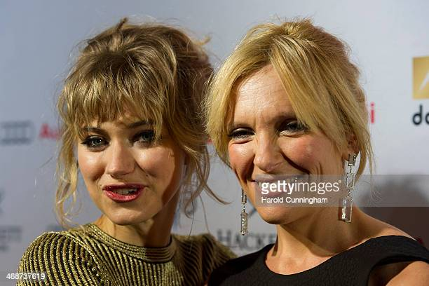 Imogen Poots and Toni Collette attend the Zurich Premiere of 'A Long way down' at Kino Corso on February 11 2014 in Zurich Switzerland