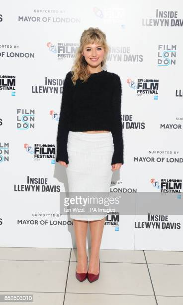 Imogen Poots arrives at the screening for new film Inside Llewyn Davis at the Odeon cinema in London