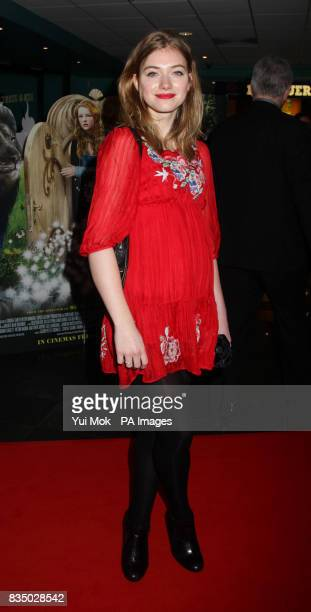 Imogen Poots arrives at the UK film premiere of The Secret of Moonacre at the Vue Leicester Square London
