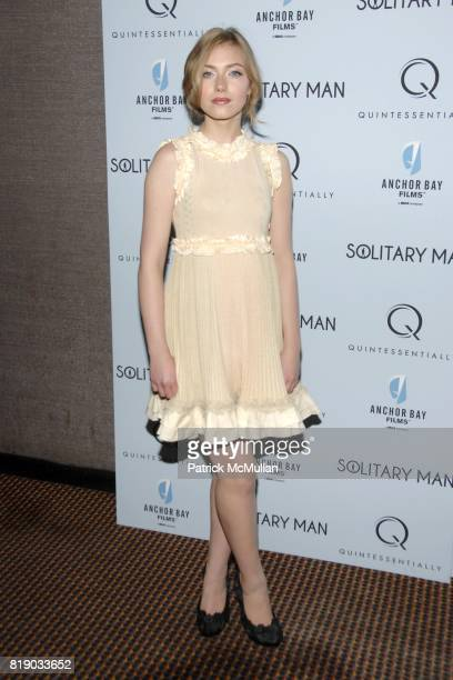 Imogen Poots attends QUINTESSENTIALLY and ANCHOR BAY FILMS Host The NY Premiere of SOLITARY MAN at Cinema 2 on May 11 2010 in New York City