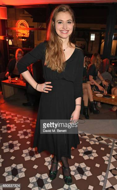 Imogen Poots attends the press night after party for 'Who's Afraid Of Virginia Woolf' at 100 Wardour St on March 9 2017 in London England