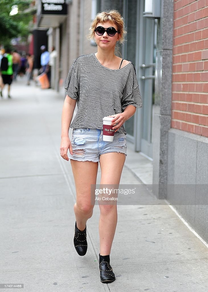 Imogen Poots is seen on the set of 'Squirrels to the Nuts' on July 23, 2013 in New York City.