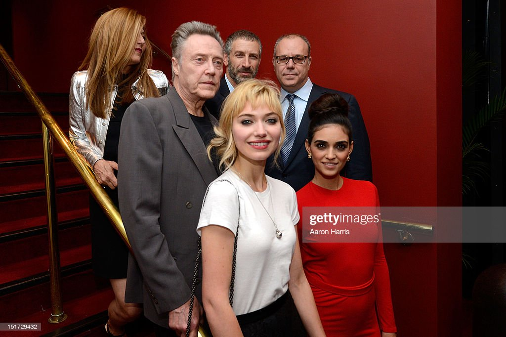 Imogen Poots, Liraz Charhi (Center Row L-R) Actor Christopher Walkenm and director Yaron Zilberman, attends the 'A Late Quartet' Premiere at the 2012 Toronto International Film Festival at The Elgin on September 10, 2012 in Toronto, Canada.