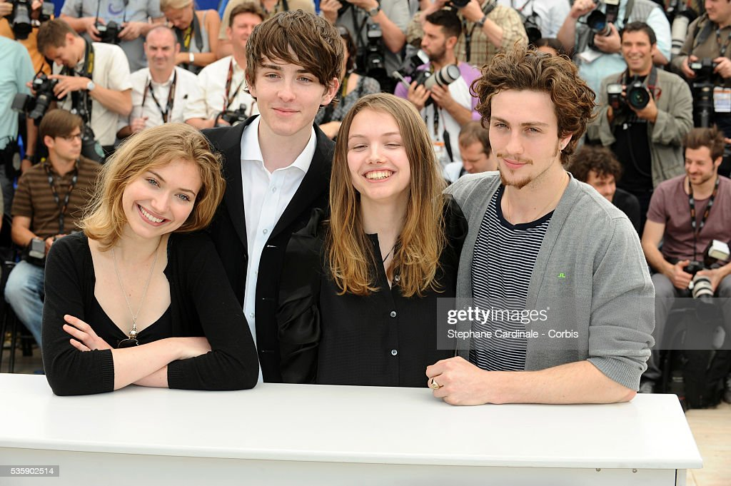 Imogen Poots, Matthew Beard, Hannah Murray and Aaron Johnson at the photocall for 'Chatroom' during the 63rd Cannes International Film Festival.
