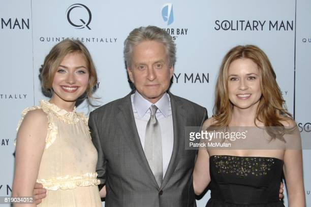Imogen Poots Michael Douglas and Jenna Fischer attend QUINTESSENTIALLY and ANCHOR BAY FILMS Host The NY Premiere of SOLITARY MAN at Cinema 2 on May...