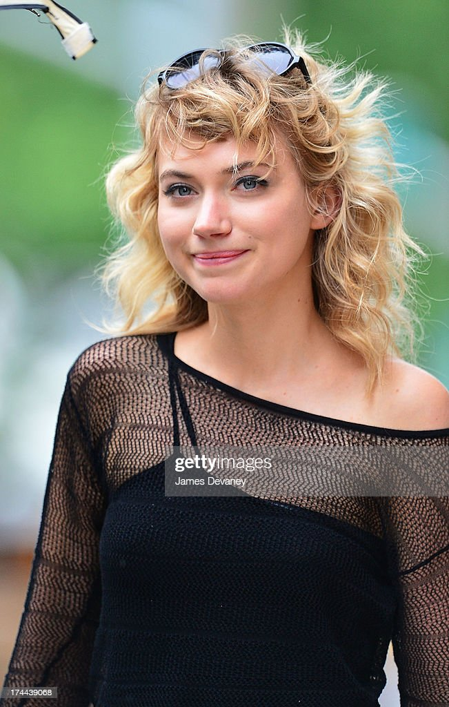 <a gi-track='captionPersonalityLinkClicked' href=/galleries/search?phrase=Imogen+Poots&family=editorial&specificpeople=4265532 ng-click='$event.stopPropagation()'>Imogen Poots</a> seen on the set of 'Squirrels to the Nuts' on July 25, 2013 in Astoria, Queens.