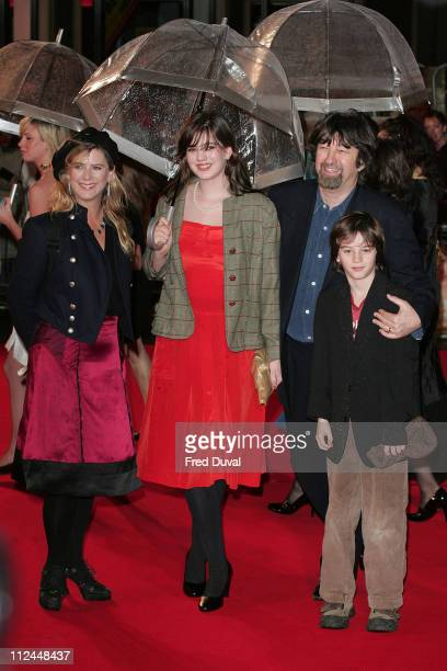 Imogen Stubbs Trevor Nunn and family during 'Becoming Jane' London Premiere Arrivals at Odeon West End in London Great Britain