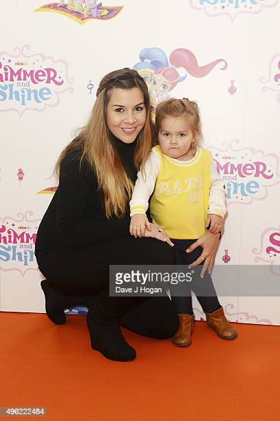 Imogen Thomas and daughter Ariana attend the UK premiere of the new Nick Jr series Shimmer and Shine launching on Monday 9th November at 430pm on...