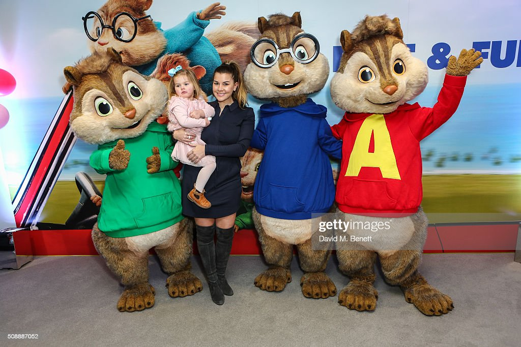 <a gi-track='captionPersonalityLinkClicked' href=/galleries/search?phrase=Imogen+Thomas&family=editorial&specificpeople=1963481 ng-click='$event.stopPropagation()'>Imogen Thomas</a> and daughter attend a Gala Screening of 'Alvin & The Chipmunks: The Road Chip' at Vue West End on February 7, 2016 in London, England.