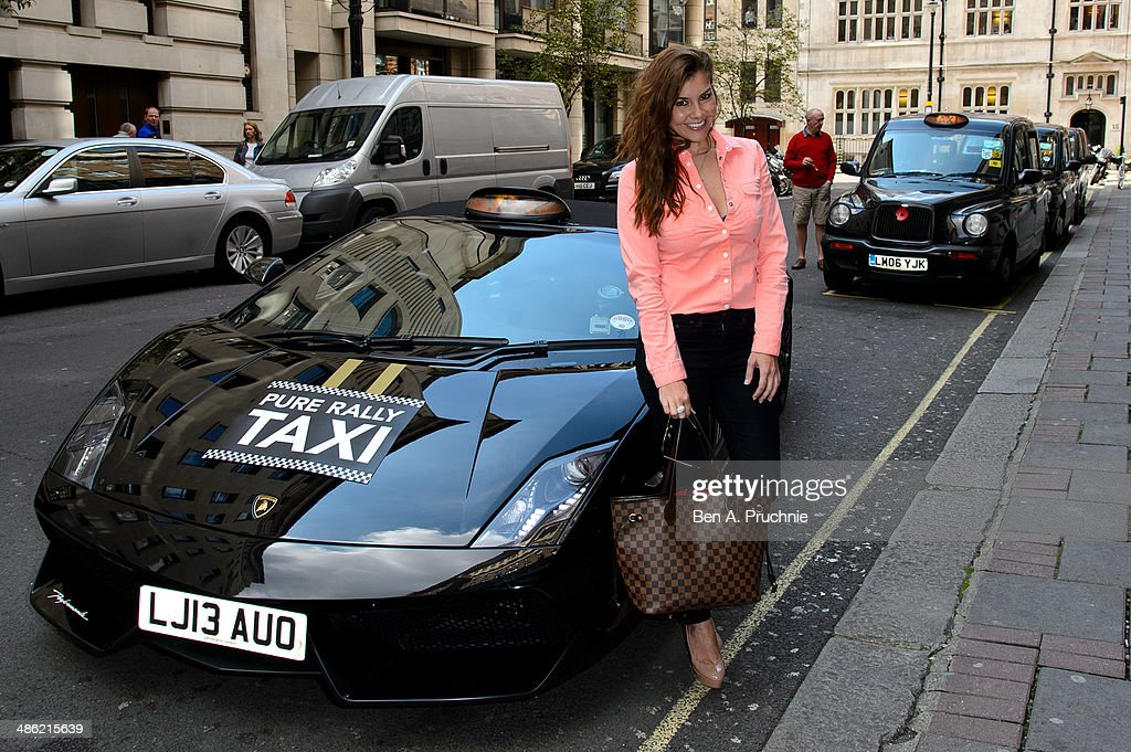 <a gi-track='captionPersonalityLinkClicked' href=/galleries/search?phrase=Imogen+Thomas&family=editorial&specificpeople=1963481 ng-click='$event.stopPropagation()'>Imogen Thomas</a> attends a photocall to launch the first London Lamborghini taxi by Pure Rally at The Mayfair Hotel on April 23, 2014 in London, England.