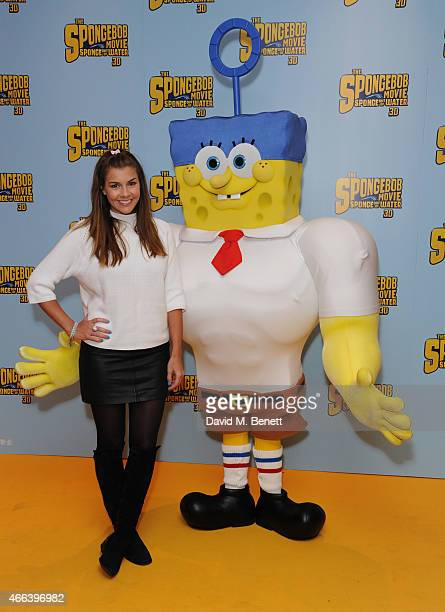 Imogen Thomas attends a special Mother's Day screening of 'The SpongeBob Movie Sponge Out of Water 3D' at the Ham Yard Hotel on March 15 2015 in...