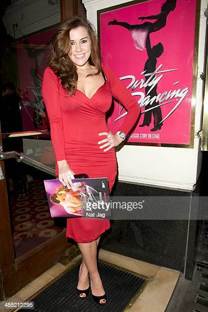 Imogen Thomas attends 'Dirty Dancing' at the Piccadilly Theatre on December 11 2013 in London England