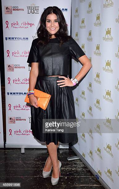 Imogen Thomas attends the Pink Ribbon 2014 Launch Party For Breast Awareness Month at Gilgamesh on September 23 2014 in London England