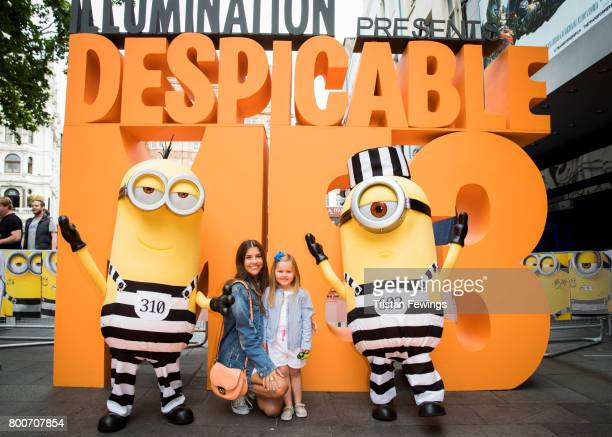 Imogen Thomas attends the special screening of Despicable Me 3 at Odeon Leicester Square on June 25 2017 in London England