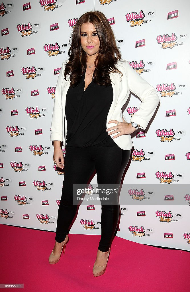 Imogen Thomas attends the Wink Bingo Celebrity Female Take Over on March 18, 2013 in London, England.