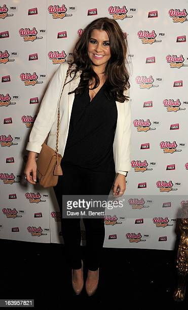 Imogen Thomas attends Wink Bingo's Gentle Woman's Night featuring a performance from The Dream Idols at Peter Stringfellow's Angels Club on March 18...
