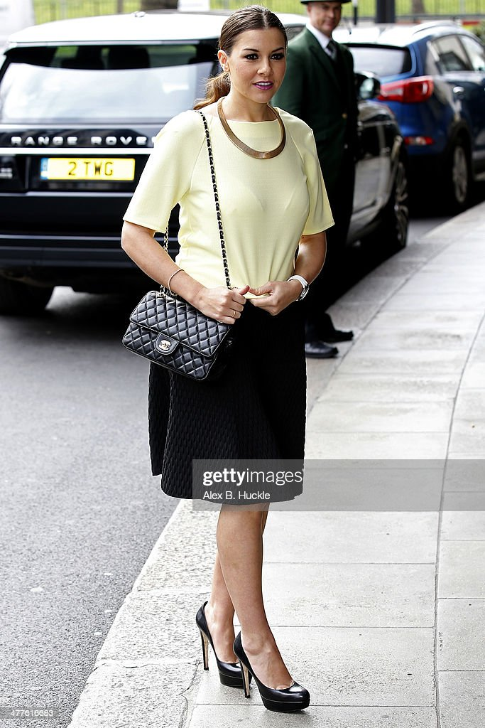 <a gi-track='captionPersonalityLinkClicked' href=/galleries/search?phrase=Imogen+Thomas&family=editorial&specificpeople=1963481 ng-click='$event.stopPropagation()'>Imogen Thomas</a> sighted arriving at The Dorchester hotel for The Mother and baby big heart awards on March 10, 2014 in London, England.