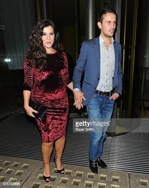 Imogen Thomas with her boyfriend Adam Horsley are seen on November 29 2012 in London United Kingdom