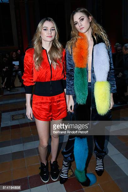 Imogen Waterhouse and her sister Suki Waterhouse attend the Sonia Rykiel show as part of the Paris Fashion Week Womenswear Fall/Winter 2016/2017 on...