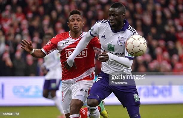 Imoh Ezekiel of Standard Liege Kouyate Cheikhou of Rsc Anderlecht during the Jupiler League match between Standard Liege and RSC Anderlecht on...