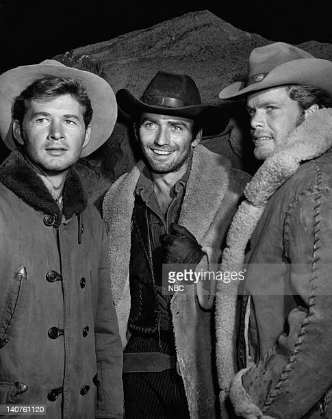 THE VIRGINIAN 'Impasse' Episode 108 Pictured Gary Clarke as Steve Hill James Drury as The Virginian Doug McClure as Trampas Photo by NBC/NBCU Photo...