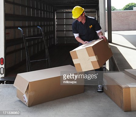 Impatient Delivery Truck Worker