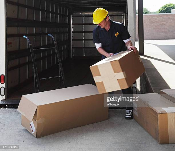 Impatient Delivery Truck Worker