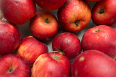 Imperfect red organic apples
