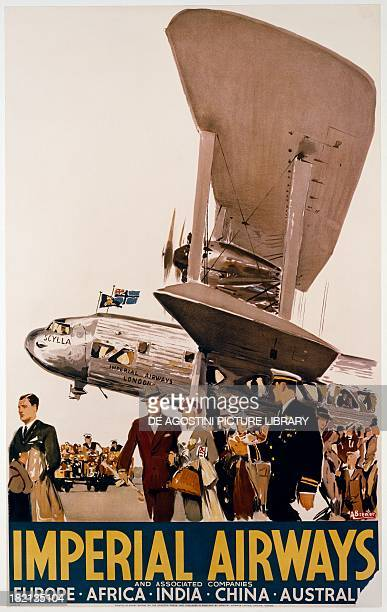 Imperial Airways poster by Albert Victor Eugene Brenet 20th century