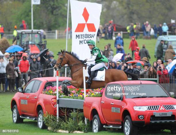 Imperial Cavalier and Mary King approach the Lake during the cross country at the Mitsubishi Motors Badminton Horse Trials