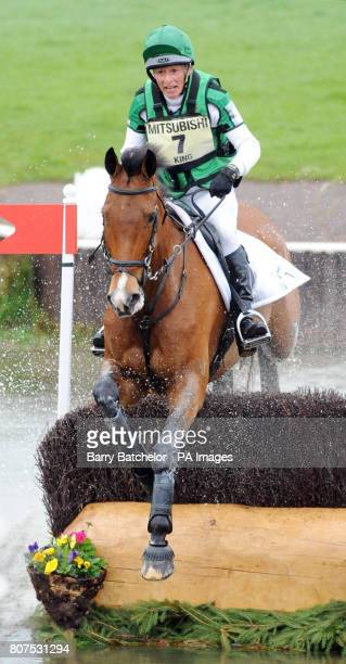 Imperial Cavalier and Mary King goes through the Lake during the cross country at the Mitsubishi Motors Badminton Horse Trials